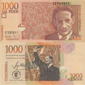 Colombia-1000-Pesos-19-8-2015-Crowd-cheering-Gaitan-p456t-UNC