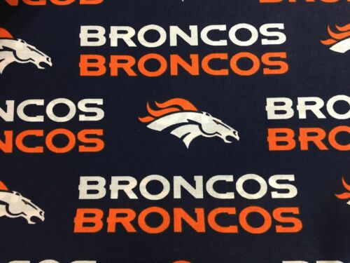 """DENVER BRONCOS NFL 60/"""" WIDE COTTON FABRIC BY THE YARD Fabric Traditions B"""