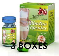 100% Authentic. Diet Pills / 3 Boxes / Slim Bio Herbal Slimming Capsules