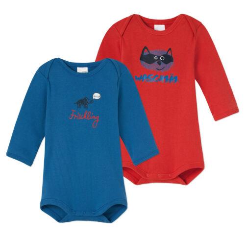 SCHIESSER Baby Body Doppelpack Gr 68-104 Bodies Langarm 100/% Baumwolle