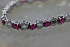 18K-White-Gold-Ruby-amp-Diamond-Bracelet-8-55-ct-Rubies-amp-2-5-ct-Diamonds-7-034