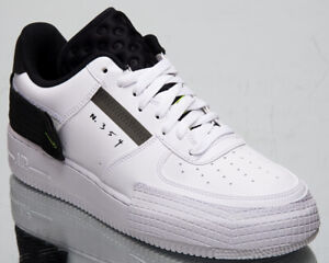 Nike-Air-Force-1-Type-Men-039-s-White-Black-Volt-Casual-Lifestyle-Low-Sneakers-Shoes