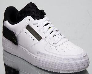 Detalles acerca de Nike Air Force 1 Tipo Para Hombre Blanco Negro Volt  estilo de vida Informal Tenis Deportivas zapatos bajos- mostrar título  original