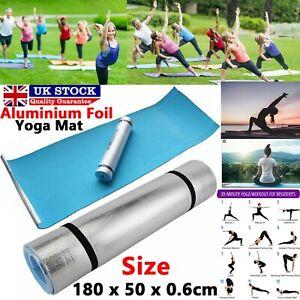 Blue Yoga Camping Beach Sleeping Ground Mat 180 x 50cm Roll Up Mats Foam New