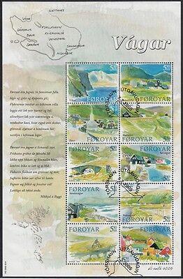 2005 Ortschaften 513-22 Kleinbogen Gestempelt, 18772 Ehrgeizig FÄrÖer