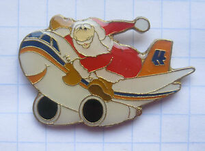 HAPAG-LLOYD-WEIHNACHTSMANN-Flugzeuge-amp-Airlines-Pin-142e