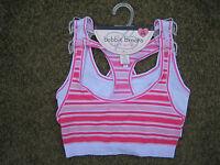 Girls Bobbie Brooks 2 Pack Stretch Sports Bras Size S/m 30-32 Pinks Whites