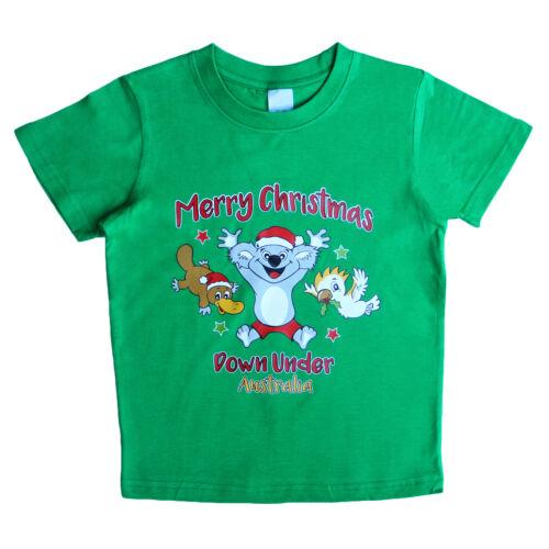 Kids Christmas T Shirt 100/% Cotton Xmas Tee Boys Girls Red White Tshirt
