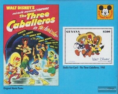Postfrisch 1993 Donald Duck Kurzfilme Easy To Lubricate kompl.ausg. Collection Here Guyana Block366