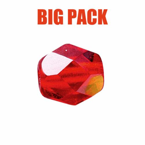 Team Stollenwerk Facetten Angeln Inhalt 100 St. Glasperlen Rot 10mm Big Pack