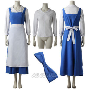 image is loading beauty and the beast belle blue maid dress