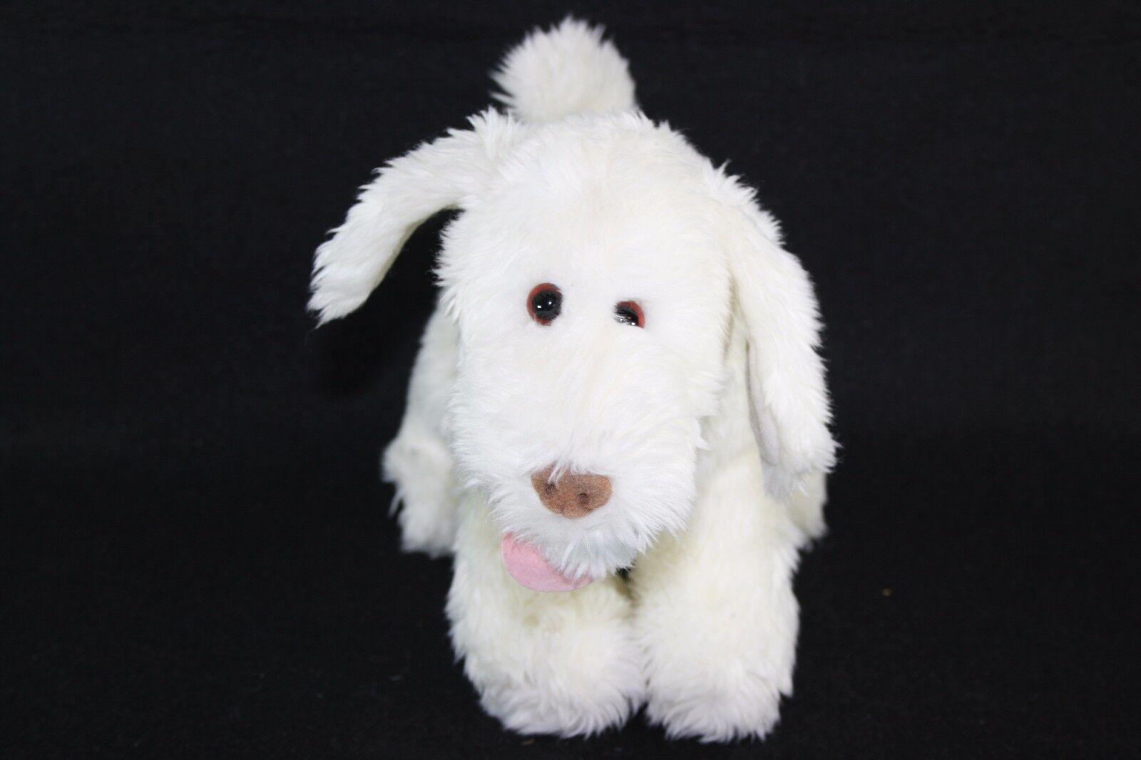 Target Gund  White Puppy Dog Stuffed Animal 12  Soft Plush