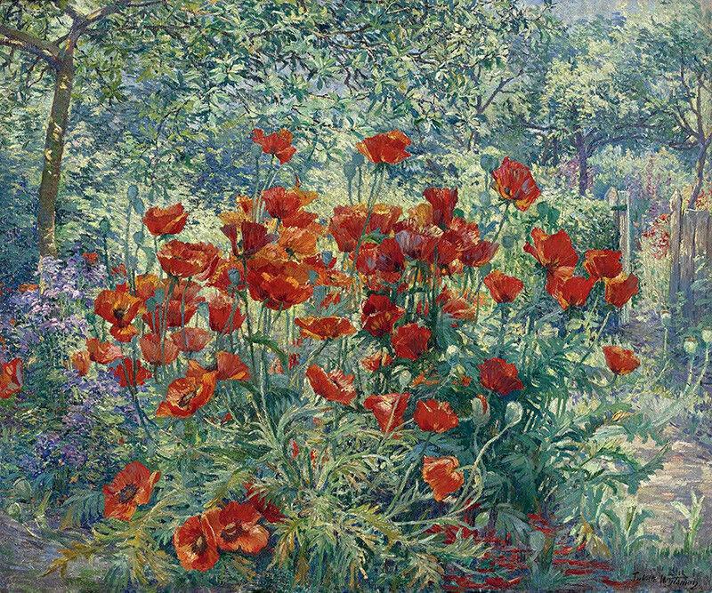 FLOWER GARDEN IMPRESSIONISM PAINTING BY JULIETTE WYTSMAN REPRO