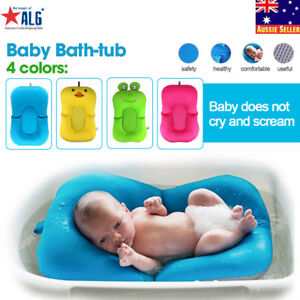 Infant-Baby-Kids-Bath-Tub-Bath-Seat-Soft-Cushion-Antiskid-Bathing-Mat-Safety-Bed