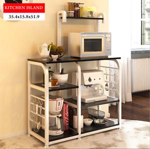 Image Is Loading Kitchen Island Dining Cart Baker Cabinet Basket Storage