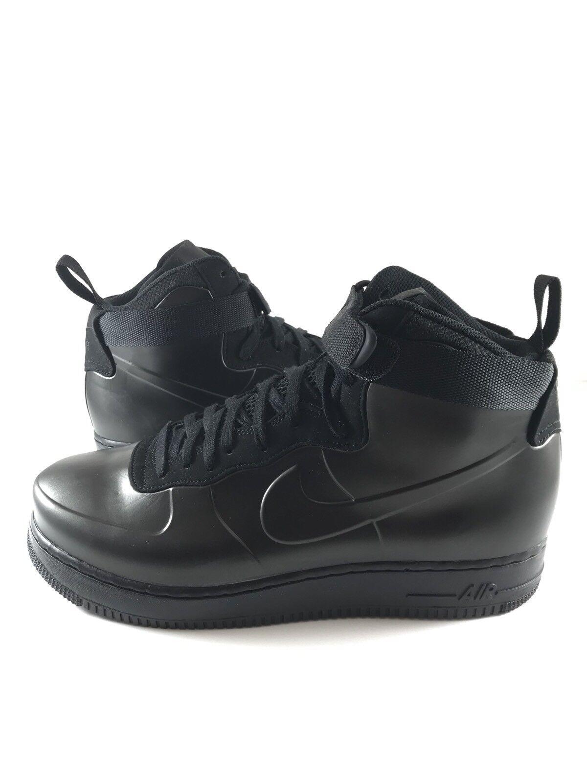 Nike Air Force 1 Foamposite Cupsole Triple Black AH6771 001 Mens Size 11 AF1
