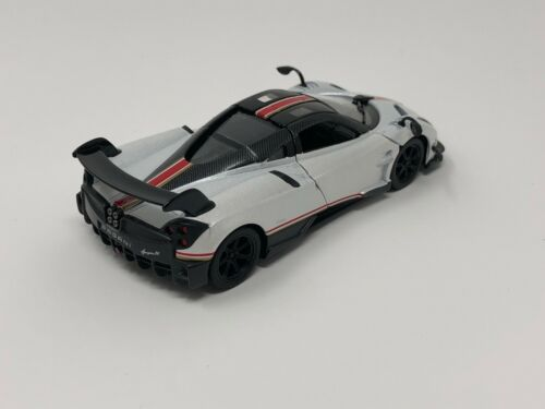 """New Kinsmart 5/"""" Pagani Huayra BC Livery Edition Diecast Model Toy Car 1:38 White"""