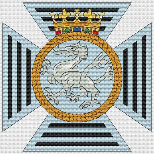 Duke of Edinburgh/'s Royal Regiment Badge Cross Stitch Design kit or chart