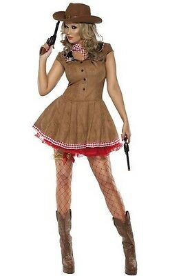 New Cute Sexy Cowgirl Wild West Costume Adult Ladies Cowboy Smiffys