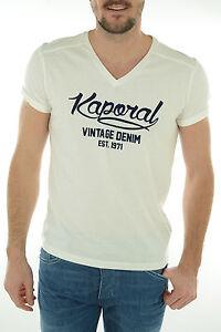 Tee-shirt-KAPORAL-manches-courtes-Homme-KOI-Blanc-S-M-L-XL-XXL