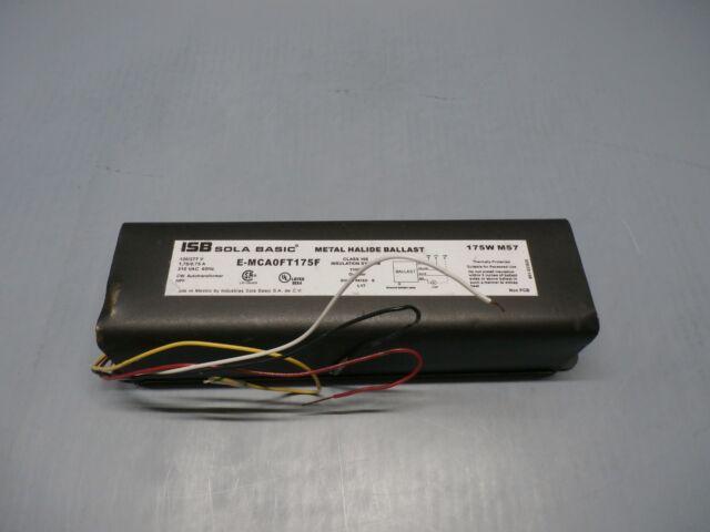 175W Sola Basic Metal Halide F-Can Lamp Ballast 120//277V M57//H39 E-MCA0FT175F