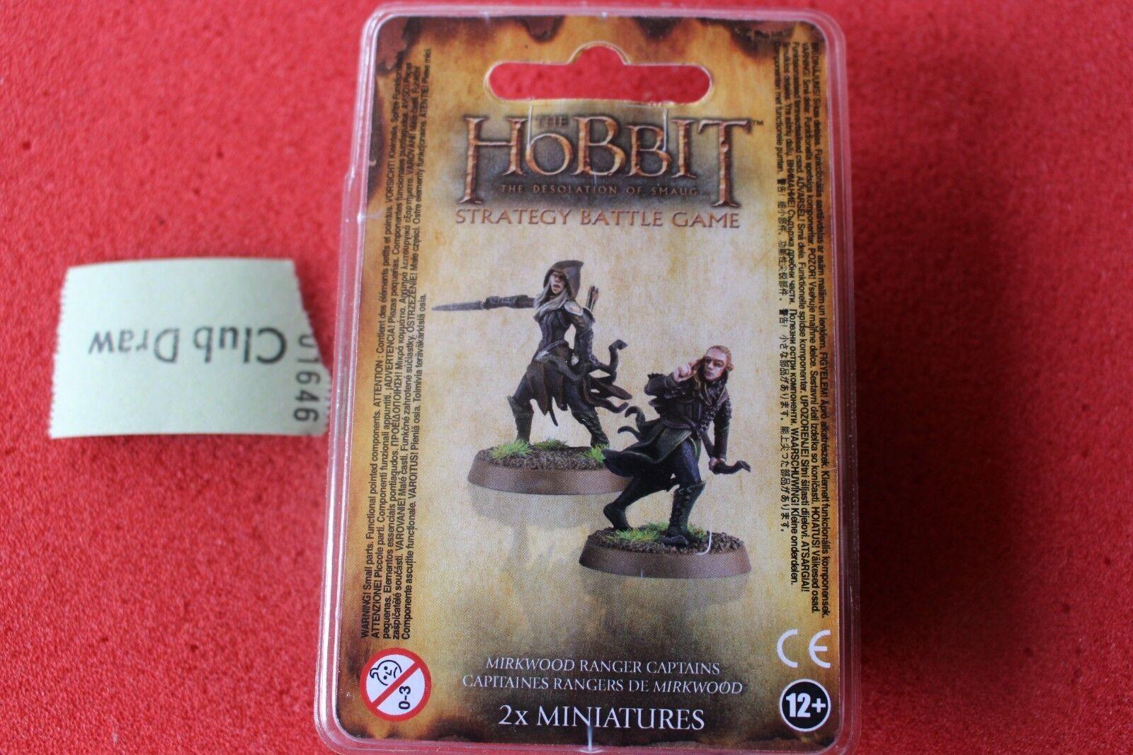 Games Workshop The Hobbit Mirkwood Ranger Captains Middle Earth Finecast New GW