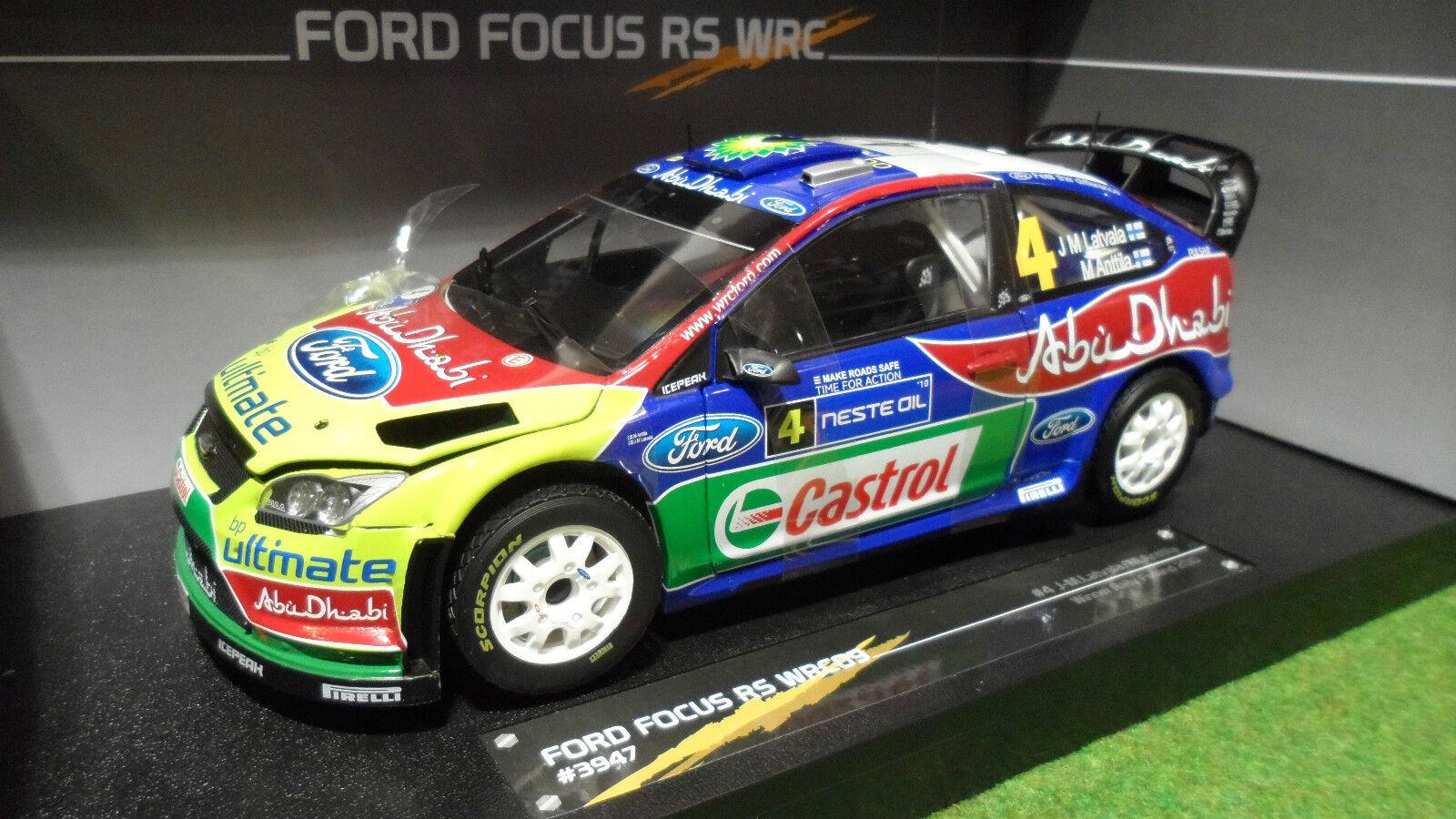 FORD  FOCUS RS WRC09 WINNER Rallye FINLANDE 2010 1 18 SUNSTAR 3947 voiture Rally