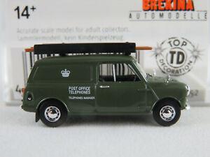 Brekina-15352-Austin-Mini-Van-1959-034-Post-OfficeTelephones-034-1-87-H0-NEU-OVP