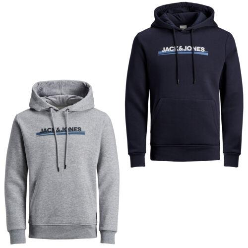 Jack /& Jones Core Hoodie Mens Logo Print Drawstring Hooded L//S Sweater JCOZine