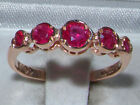 VICTORIAN INSP 9CT ROSE GOLD ENGLISH RUBY ETERNITY RING