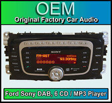 Ford Focus DAB radio with 6 Disc CD MP3 player, Ford Sony car stereo + Code