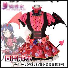 2017 Love Live Umi Sonoda Devil Ver Cos Dress Cosplay Costume Halloween Costume