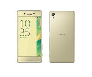 Sony-XPERIA-X-in-Gold-Handy-Dummy-Attrappe-Requisit-Deko-Werbung