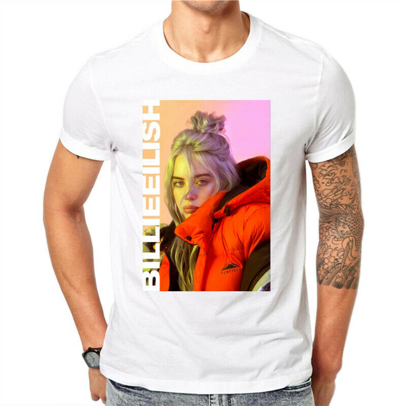 4a1e9fc6 Billie Eilish Print Casual O-Neck T Shirts Men's Tops T-shirt 2 2 of 2 See  More