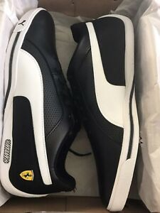 Puma-Men-039-s-Ferrari-Selezione-Men-s-Shoes-Black-amp-White-Leather-Size-12-Sneakers