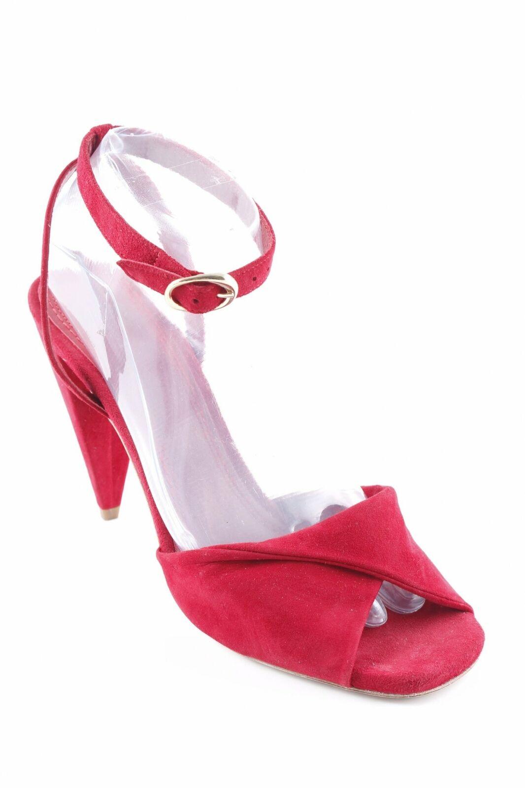 ahorre 60% de descuento Maje con tiras-sandalias rojo oscuro elegante elegante elegante señora talla de 40 High-heeled Sandals  marca de lujo