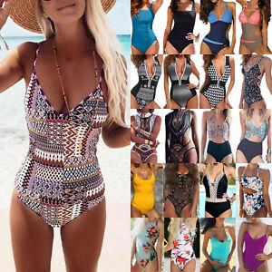 Womens-Bandage-Swimwear-Bikini-Set-Swimsuit-Push-Up-Beachwear-Bathing-Monokini