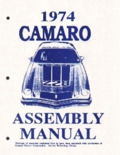 CAMARO 1974 Assembly Manual 74