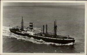 Royal-Netherlands-Steamship-Co-Steamer-Delft-Real-Photo-Postcard