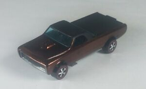 Restored-Hot-Wheels-Redline-1968-Custom-Fleetside-Brown