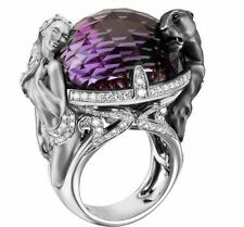 Unique Magerit Black Panther 925 Sterling Silver Engagement Wedding Ring jewlery