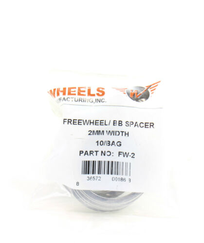 2.0mm SET OF 10 Wheels Manufacturing Freewheel//Bottom Bracket Spacers