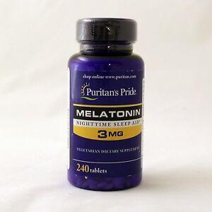 Puritan-039-s-Pride-Melatonin-3-mg-240-Count-Tablets-Sleep-Aid-120-x-2