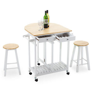 Image Is Loading Rolling Kitchen Island Trolley Cart Storage Dinning Table