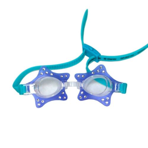 Swimways Blue and Teal Star Glam Goggles Pool Accessory for Kids Age 3+