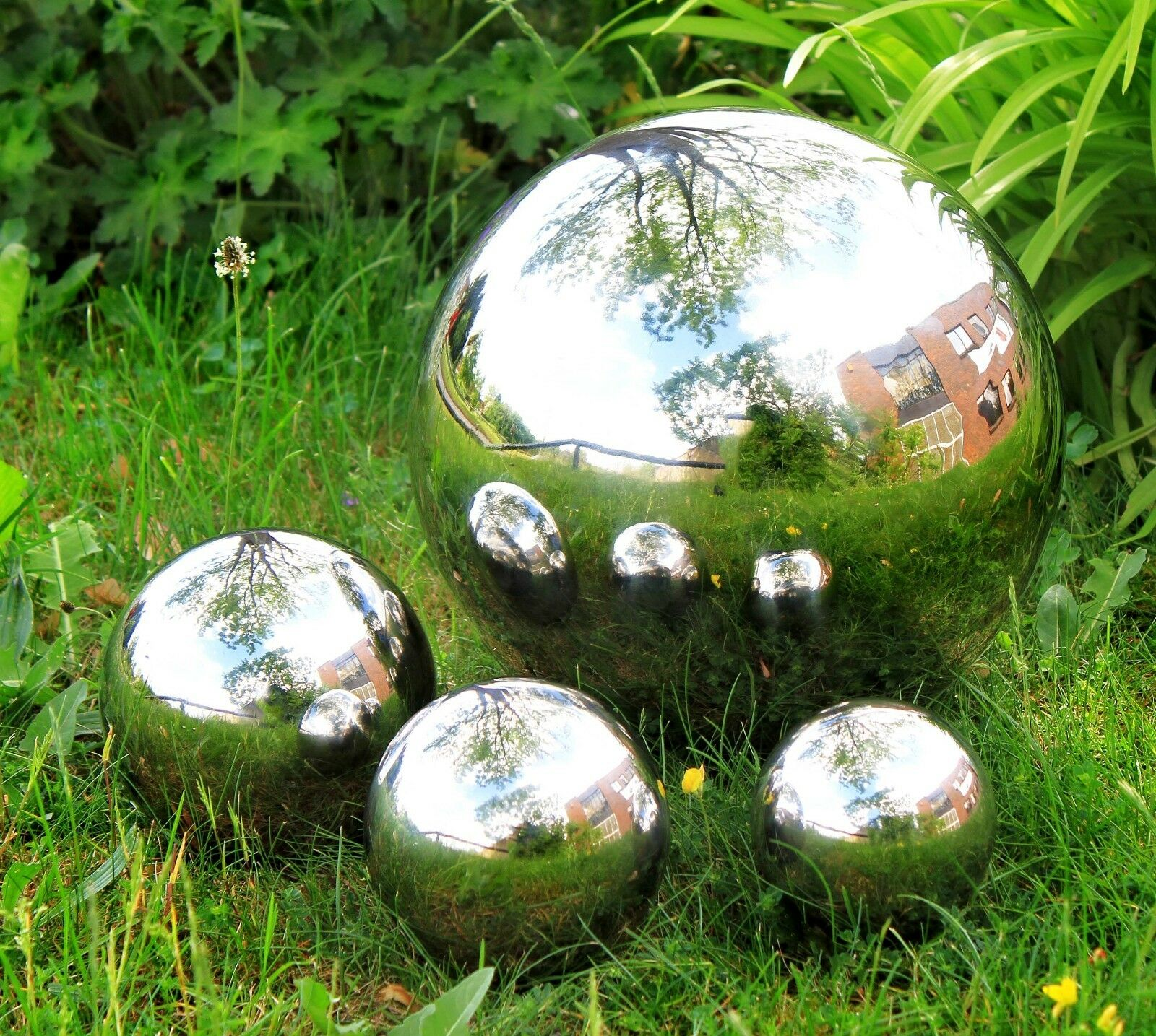 Garden Stainless Steel Gazing Balls Metal Ball Globes Floating Pond Decor Balls