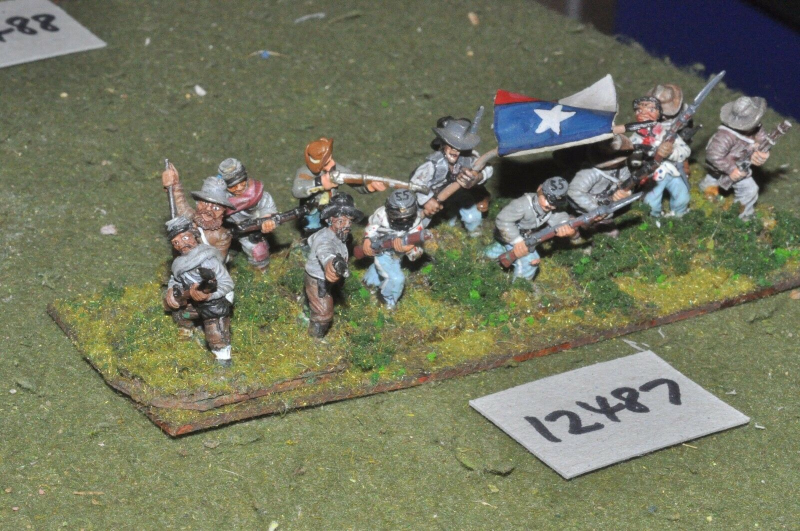 25mm ACW   confederate - american civil war infantry 14 figures - inf (12487)