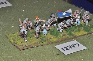25mm-ACW-Confederate-Guerra-Civile-Americana-Fanteria-14-cifre-INF-12487