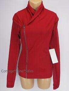 NEW-LULULEMON-Bhakti-Yoga-Jacket-Cranberry-Red-Sz-4-8-10-NWT-FREE-SHIP