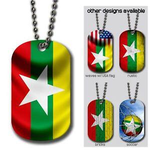 Details about Aluminum Dog Tag - Flag of Myanmar (Burmese) - Many Design  Options